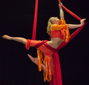 Cirque Imagination perfomer on silks
